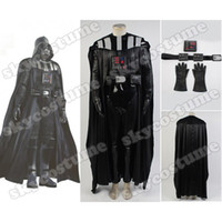 Costume Accessories . XS Wholesale-Star Wars Darth Vader Suit Movie Halloween Carnival Cosplay Costumes For Men Women Cloak Top Pants
