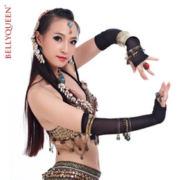 Wholesale Tribal belly dancing water yarn sleeves gloves belly dance accessories jewelry tribal belly dance performances hand jewelry