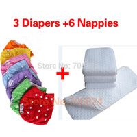 Wholesale Diapers Nappies insert Washable Reusable Baby Cloth Diapers Nappy Inserts Cotton Layers water proof diaper