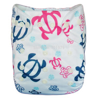 Wholesale ALVA NEW Printed Reusable Double Row Snaps with Insert Reusable Baby Diapers