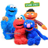 Wholesale cm quot high quality Sesame street toys ELMO COOKIE MONSTER GROVER GRNIE doll plush toy for kids birthday gift