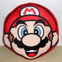 Cheap Wholesale-Free Shipping Super Mario Bros Mario Cushion Pillow 23cm Plush Bolster Toy Figure Retail