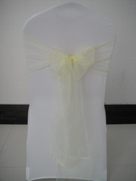 YELLOW LEMON organza chair sash 100pcs a lot with free shipping for wedding,party,hotel decoration use