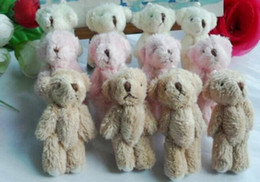 Wholesale Kawaii Fluffy Standing CM Mini Joint Teddy Bear DOLL Plush Stuffed TOY DOLL Wedding Gift amp Bouquet Decor TOY DOLL