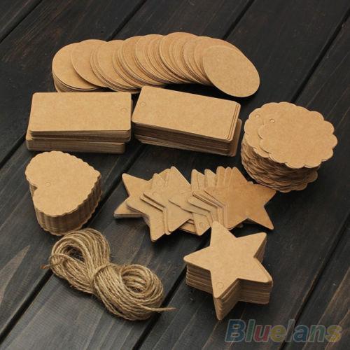 Wholesale-Vintage Blank Brown Kraft Paper Hang Tags Wedding Favor ...