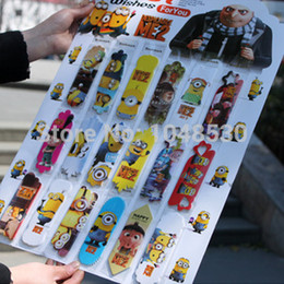 Wholesale set Despicable Me bookmark paper cute cartoon Minions Pegman paper card