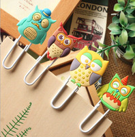 Wholesale Cute Bookmark Diy - Wholesale-Cute Creative Owl Family design Metal Paper clip   DIY Multifunction Bookmark animal book mark   Wholesale & retails