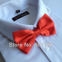 Wholesale Solid copy silk Mens Bow Tie for man bowtie cravat butterfly