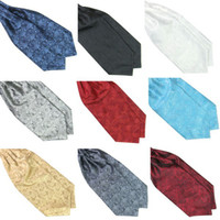 Wholesale Hot Hot Ascot Tie Cravat Mens Neck Tie Satin Scarf Self Tie For Wedding
