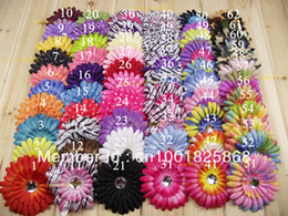 Wholesale BEAUTIFUL PC quot COLORS NEWBORN GERBER DAISY Flowers Hair clip BABY GIRL FAST TO