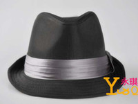 Wholesale Graceful Hat British Gentleman hat with a narrow belt at the crown