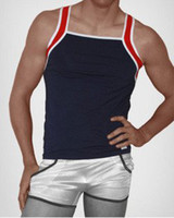 ac vest - AC man fashion Fitness Vest Sexy High quality Mesh design Fashion Breathable Best for fitness blue2