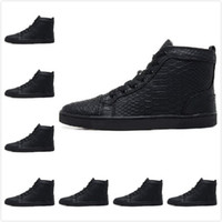 snake print shoes - Size Men amp Women Black Snake Print Leather High Top Fashion Sneakers Unisex Luxury Brand Winter Casual Shoes