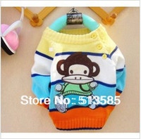 Cheap Wholesale-free shipping wholesale Autumn and winter children sweater monkey children's clothing child sweater cashmere yarn