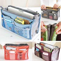 acrylic organiser - Lady Women Insert Handbag Organiser Purse Large Liner Organizer Bag Tidy Travel