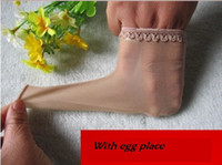 Wholesale Sexy Stocking Socks - Wholesale-Cock Glove ! Men's Sexy Sheer Thongs Underwear with Penis Sheath. Silk Stocking G-string For Male Lace Cock Socks with egg