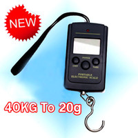 Cheap Wholesale-40kg LCD Portable Weighing Hanging Fishing Luggage Kitchen Digital Scales