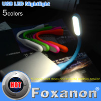 Wholesale Original Xiaomi USB Light Ultra Bright Flexible W LED Lamp Booking Light with USB for Power bank comupter Portable