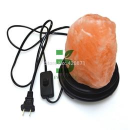 Wholesale-Himalayan Light Natural Air Purifying Himalayan Salt Lamp with Neem Wood Base LED Salt Lamp