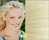 Acheter Extension remy 26 pouces-MIRACLE 26 28 pouces # 60 platine blond Indian Remy Hair Weft Extension très long cheveux 100g