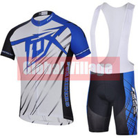 Wholesale FOX blueCycling Jersey bib pants Men s Short Sleeve Cycling Clothing Summer Jersey Pants Bib Shorts