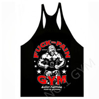 Cheap Wholesale-Sell like hot cakes men's Gorilla,Bodybuilding,Tank Tops,Sport,Fuck the Pain,Tattoo,Gym,Grunge.100% cotton,high quality,M-XXL