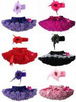 pettiskirts - New Baby Girls Rainbow Chiffon Fluffy Pettiskirts Tutu Girls Princess Skirts Party Girl Boutique headbands XM