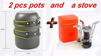 electric gas - Outdoor Tools Camping Cookware Cooking Set Tableware Picnic Bowl Pot Electric Strike Fire Gas Stove Burner Survival Tool