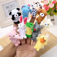 Cheap Wholesale-20 pcs lot finger puppets reborn babies story toy,10 styles animal hand finger puppet doll toy,fantoches de dedo,fantoche de mao
