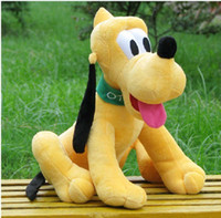 minnie mouse plush - CM Original Pluto Dog Plush Toy Goofy Mickey Minnie Mouse Donald Duck Soft Dolls toys Kids Brinquedos With
