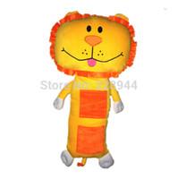 aquatic pets - new Child seat pets Children Car seat belts pillow cover Purple Tan lion plush toy