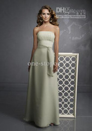 Wholesale full refund guarantee strapless sheath floor length chiffon weman s bridesmaid dresses NB1371