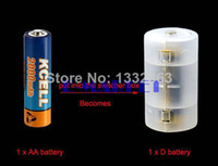 aa to d battery adapter - New AA to D Size Cell Batteries Holder Converter Switcher Adapter Case TK0116 F
