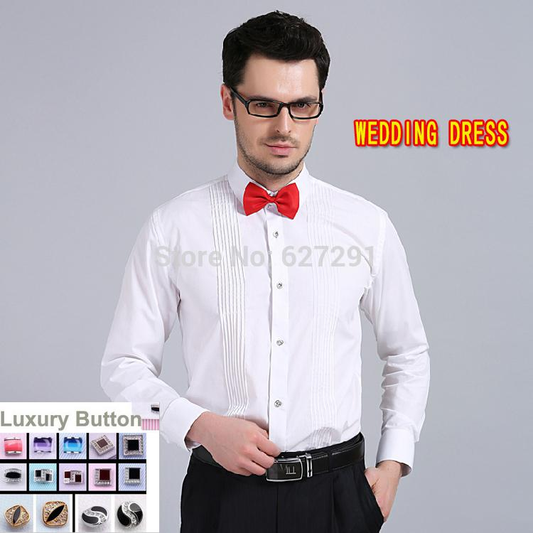 Best Wholesale 2015 Brand 100 Cotton Tuxedo Shirt For Men: 100 cotton tuxedo shirt