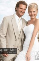 allure designer - Mens wedding suits men TAN ALLURE TUXEDO Slim business suits complete designer tuxedo Bridegroom suit