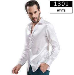 2017 boutons de manchette de smoking nouveaux hommes tuxedo shirt gros-2015, 12 couleurs hommes de soie solide robe chemise à manches longues avec des boutons de manchette, camisas hombre camisetas masculinas boutons de manchette de smoking ventes