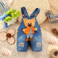 Wholesale Newborn Baby Girls Boys Kids Denim Jeans One pieces Rompers Playsuits Clothes