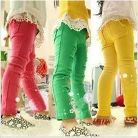 baby skinny jeans - Retail kids jeans baby amp child pants fashion broken hole pencil trousers yellow red green girls skinny pants girls clothing
