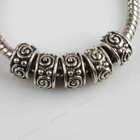 Wholesale 100x New Fashion Jewelry Alloy Silver Tone Whirlpool Charms Beads Fit European Bracelets DIY
