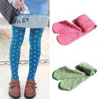 Wholesale Trendy Kid Girl Leggings Polka Dot Dance Pantyhose Velvet Stretch Slim Leggings amp Drop shipping