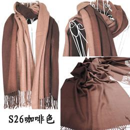 Wholesale-2015 Brand New Women's Fashion Long large Soft Shawl Stole Cashmere Scarf Gradient scarf wraps W4193