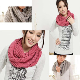 Wholesale colors New Fashion Women s Corn kernels Shawl Knitted Neck Cowl Wrap Scarf Warmer Circle