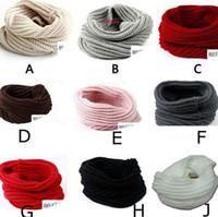 al por mayor bufanda infinito cuello de punto más caliente-Venta por mayor-Nueva llegada los niños mujeres cálido invierno de punto Crochet Infinity bufanda chal capucha cuello círculo Cable