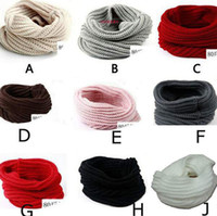 Wholesale New Arrive children women Warm Winter Knit Crochet Infinity Scarf Shawl Cowl Neck Circle Cable