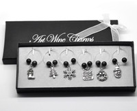 wine glass charm - Box Mixed Christmas Wine Glass Charms Table Decorations W Box x25mm x25mm Decoration