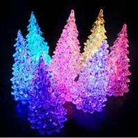 christmas tree ornaments - Beautiful Christmas Ornament Ice Crystal Colorful Christmas Tree Changing LED Desk Decor amp Table Lamp Light