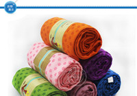 Wholesale 10pcs Hot Health Care Skidless Yoga Towel Mat Non slip for Fitness Yoga Blanket