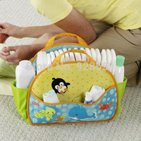 Wholesale Baby Diaper Bags Fisher Price Bag Nappy Changing Baby Bolsa Maternidade Bolsa De Bebe Wet For Mummy Travel Mom Colorland Babies