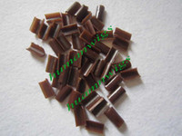 Wholesale U Shaped Fusion Chips Keratin glue nail brown Hair Extension Tool mix color