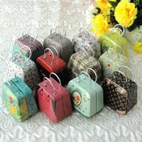 metal box - Free ship pc Handbags tin mini candy box tin box creative wedding Favor Boxes gift